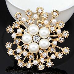 女性 真珠 ラインストーン 合金 ファッション ジュエリー 日常