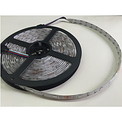 abordables Regalo Gratis-JIAWEN 5 m Tiras de Luces RGB 300 LED 5050 SMD 1 cable de CA / 1 x 12V 3A adaptador / Controlador de sonido musical de 20 teclas RGB Impermeable / Cortable / Auto-Adhesivas 100-240 V 1 juego / IP65