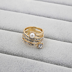 preiswerte Ringe-Damen Bandring - Perle, Strass, Diamantimitate Modisch 7 / 8 / 9 Für Hochzeit Party Alltag