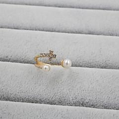 preiswerte Ringe-Damen Bandring - Perle, Strass, Diamantimitate Kreuz damas, Luxus, Ohne Verschluss Schmuck Für Hochzeit Party Alltag Normal Sport Verstellbar / Aleación