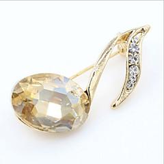 Damskie Broszki Kryształ Pozłacane sztuczna Diament Modny Nuty Gold Czerwony Biżuteria Ślub Impreza Specjalne okazje Urodziny Codzienny