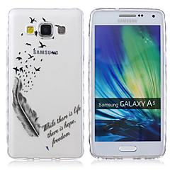 voordelige Galaxy A5 Hoesjes / covers-Voor Samsung Galaxy hoesje Transparant / Patroon hoesje Achterkantje hoesje Woord / tekst TPU Samsung A5 / A3