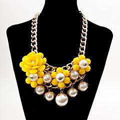 preiswerte Halsketten-Damen Perle Anhängerketten / Statement Ketten - Perle, Künstliche Perle, Harz Böhmische, Modisch, Boho Rosa, Hellblau, Regenbogen Modische Halsketten Schmuck Für Party, Alltag, Normal