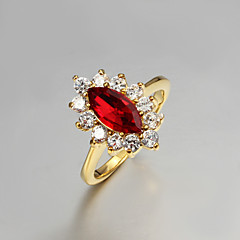 Anéis Casamento / Pesta / Diário / Casual Jóias Zircão / Chapeado Dourado Feminino Anéis Grossos 1pç,6 / 7 / 8 / 9 Dourado