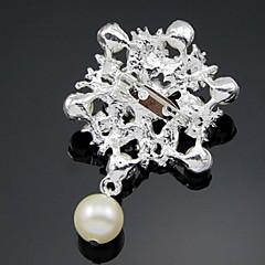 お買い得  ブローチ-女性用 - イミテーションダイヤモンド ぜいたく, ヴィンテージ, ファッション ブローチ ホワイト 用途 パーティー