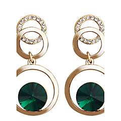 Χαμηλού Κόστους Σκουλαρίκια Κρίκοι-Γυναικεία Κρεμαστά Σκουλαρίκια Κρίκοι Κρυστάλλινο Μοντέρνα Κρύσταλλο Επιχρυσωμένο Κράμα Circle Shape Κοσμήματα Πάρτι Καθημερινά Causal