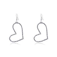 preiswerte Ohrringe-Damen Kristall Tropfen-Ohrringe - Krystall, versilbert Herz Silber Für Party Alltag Normal