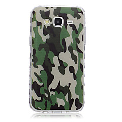 billige Galaxy Alpha Etuier-For Samsung Galaxy etui Mønster Etui Bagcover Etui Camouflage TPU for Samsung J7 J5 J3 J2 J1 Ace J1 Grand Prime Core Prime Alpha