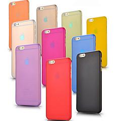 Недорогие Кейсы для iPhone 6-Кейс для Назначение Apple iPhone 6 iPhone 6 Plus Ультратонкий Матовое Полупрозрачный Кейс на заднюю панель Сплошной цвет Твердый ПК для