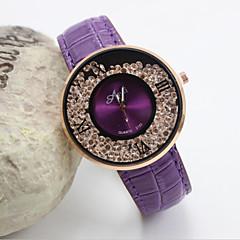 お買い得  大特価腕時計-女性用 クォーツ リストウォッチ カジュアルウォッチ レザー バンド Elegant / ファッション ブラック / 白 / レッド / ブラウン / パープル