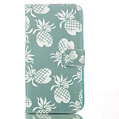 Недорогие Кейсы для iPhone 5-Назначение Кейс для iPhone 6 Кейс для iPhone 6 Plus Чехлы панели Кошелек Бумажник для карт со стендом Чехол Кейс для Фрукты Твердый