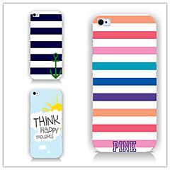 Недорогие Кейсы для iPhone 6-Кейс для Назначение Apple iPhone 6 iPhone 6 Plus С узором Кейс на заднюю панель Полосы / волосы Твердый ПК для iPhone 6s Plus iPhone 6s