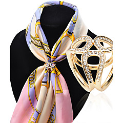 voordelige Broches-Dames Broches Luxe Modieus Gesimuleerde diamant Legering Sieraden Voor Bruiloft Feest Speciale gelegenheden Verjaardag Lahja Dagelijks