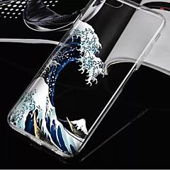 Недорогие Кейсы для iPhone 7-Кейс для Назначение Apple iPhone X / iPhone 8 / iPhone 8 Plus Прозрачный Кейс на заднюю панель Пейзаж Мягкий ТПУ для iPhone X / iPhone 8 Pluss / iPhone 8