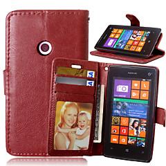 voordelige Hoesjes / covers voor Nokia-Voor Nokia hoesje Portemonnee / Kaarthouder / met standaard hoesje Volledige behuizing hoesje Effen kleur Hard PU-leer NokiaNokia Lumia