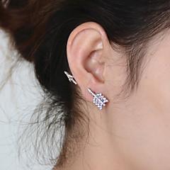 preiswerte Ohrringe-Damen Synthetischer Diamant Ohrstecker - Strass Personalisiert, Retro, Party Gold / Silber Für Party Alltag Normal