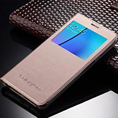 For Samsung Galaxy etui Med vindue Auto Sluk Flip Etui Heldækkende Etui Helfarve Kunstlæder for Samsung On 7 On 5