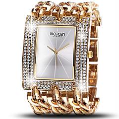 WeiQin Dame Modeur Simuleret Diamant Ur Quartz Vandafvisende Imiteret Diamant Legering Bånd Luksus Sølv Guld Rose Guld 1# 2# 3# 4# 5#