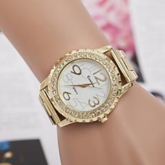 preiswerte Armbanduhren für Paare-Herrn Damen Paar Modeuhr Kleideruhr Simulierter Diamant Uhr Quartz Designer Imitation Diamant schweizerisch Legierung Band Analog Silber / Gold - Gold Silber