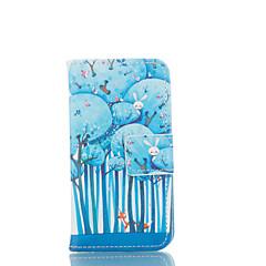 Недорогие Кейсы для iPhone 5-Кейс для Назначение iPhone 5 Apple Кейс для iPhone 5 Бумажник для карт Кошелек со стендом Флип С узором Чехол Мультипликация Твердый Кожа