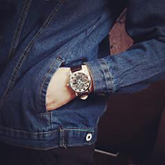 preiswerte Armbanduhren für Paare-Paar Armbanduhr Quartz Transparentes Ziffernblatt PU Band Analog Charme Modisch Schwarz / Braun - Golden Goldenschwarz Silberschwarz Ein Jahr Batterielebensdauer / Tianqiu 377