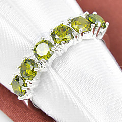 preiswerte Ringe-Damen Synthetischer Diamant Statement-Ring - Strass, versilbert 7 / 8 / 9 Purpur / Rot / Grün Für Hochzeit Party Alltag / Krystall