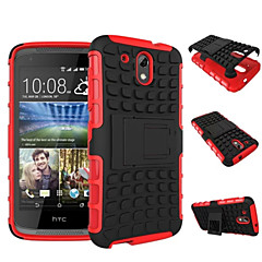 cheap Cases / Covers for HTC-DE JI Case For HTC HTC Case Shockproof / with Stand Back Cover Armor Hard PC for