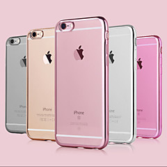 voordelige iPhone 7 Plus hoesjes-hoesje Voor Apple iPhone 8 iPhone 8 Plus iPhone 6 iPhone 6 Plus iPhone 7 Plus iPhone 7 Beplating Achterkant Effen Kleur Zacht TPU voor