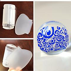 1set 2016 2 primeros colores nueva uña precinto transparente de la cabeza de impresión transparente manicura Opcional silicio compensados