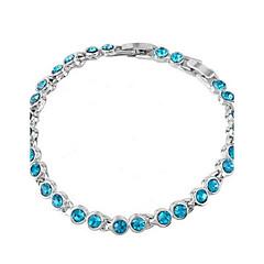 preiswerte Armbänder-Damen Kristall Ketten- & Glieder-Armbänder - Krystall Einzigartiges Design, Modisch Armbänder Grün / Blau / Rosa Für Hochzeit / Party / Alltag