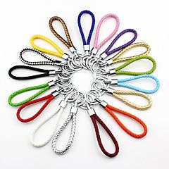 Multicolor Rainbow Leather Weave DIY Keychain(Random Color)