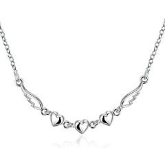 preiswerte Halsketten-Damen Halsketten / Anhängerketten / Statement Ketten - Diamant, Sterling Silber, Silber Herz, Liebe Zierlich, Europäisch, Modisch Weiß Modische Halsketten Für Hochzeit, Party, Danke