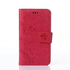 Недорогие Чехлы и кейсы для Sony-Кейс для Назначение Sony Z5 / Sony Xperia Z3 Compact / Sony Xperia M2 Xperia Z5 / Кейс для Sony Кошелек / Бумажник для карт / со стендом Чехол Бабочка Твердый Кожа PU для Sony Xperia Z3 Compact