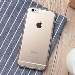 Недорогие Кейсы для iPhone 6 Plus-Кейс для Назначение Apple iPhone 6 Plus / iPhone 6 Прозрачный Кейс на заднюю панель Однотонный Мягкий ТПУ для iPhone 6s Plus / iPhone 6s / iPhone 6 Plus
