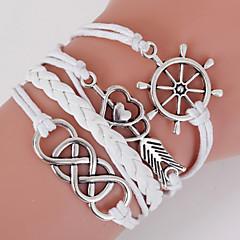 Herre Dame Wrap Armbånd loom Armbånd Dobbeltlags Boheme Stil Justérbar Legering Geometrisk form Kærlighed Anker Smykker Til Daglig