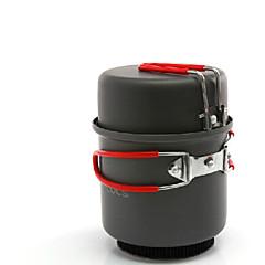 ALOCS 캠핑용 식기 키트 캠핑 야전냄비 세트 하드 알루미나 용 캠핑 & 하이킹