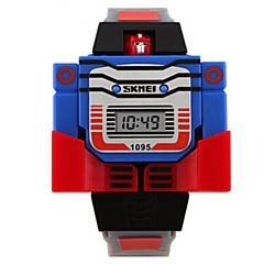 halpa Naisten kellot-Lasten Muotikello Digitaalinen Kalenteri LED Silikoni Bändi Viehätys Sininen  Punainen  Harmaa Keltainen