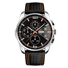 お買い得  メンズ腕時計-SKMEI 男性用 スポーツウォッチ リストウォッチ 日本産 クォーツ ブラック 30 m 耐水 カレンダー クロノグラフ付き ハンズ ぜいたく - イエロー レッド ブルー 2年 電池寿命 / ステンレス / Maxell626 + 2025