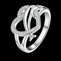 Gyűrűk Napi Ékszerek Réz / Strassz / Ezüstözött Női Vallomás gyűrűk 1db,8 Ezüst