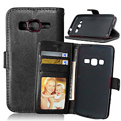お買い得  Samsung その他の機種用ケース/カバー-ケース 用途 Samsung Galaxy Samsung Galaxy ケース カードホルダー ウォレット スタンド付き フリップ フルボディーケース 純色 PUレザー のために Xcover 3 Grand Neo Core Prime