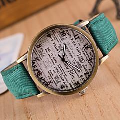 preiswerte Armbanduhren für Paare-Damen Modeuhr Quartz Schlussverkauf Leder Band Analog Retro Schwarz / Weiß / Blau - Blau Rosa Dunkelbraun