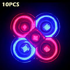 10pcsmorsen®フルスペクトル10w e27 / gu10 3red + 2blueは、花植物の水耕栽培システムのためのライトを成長させる
