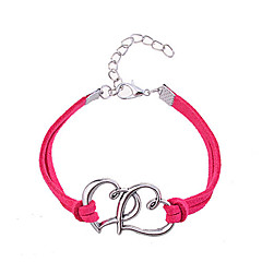 cheap Bracelets-Women's Friendship Bracelet - Leather Heart, Love Unique Design, Fashion Bracelet Rose / Red For Party / Daily / Casual