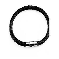 preiswerte Armbänder-Herrn Lederarmbänder Magnetisches Armband - Leder Hip-Hop Armbänder Schwarz Für Weihnachts Geschenke Normal
