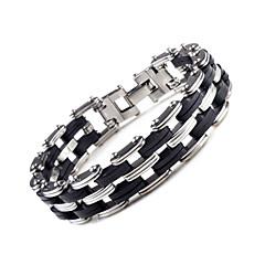 preiswerte Armbänder-Fusskettchen - Edelstahl Kette, Doppelschicht, Modisch Armbänder Schwarz Für Hochzeit / Party / Besondere Anlässe