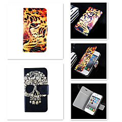 Недорогие Кейсы для iPhone-Кейс для Назначение iPhone 5 Apple Кейс для iPhone 5 Бумажник для карт Флип Чехол Животное Твердый Кожа PU для iPhone SE / 5s iPhone 5