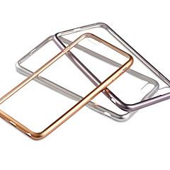 Недорогие Кейсы для iPhone-Кейс для Назначение Apple iPhone 6 iPhone 6 Plus Покрытие Прозрачный Кейс на заднюю панель Сплошной цвет Мягкий ТПУ для iPhone 6s Plus