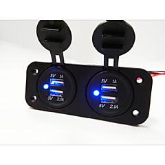 Недорогие Автоэлектроника-2 Панель отверстия Двойной автомобилей USB зарядное устройство разъем
