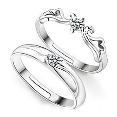 preiswerte Ringe-Paar Eheringe - Sterling Silber Modisch Verstellbar Für Hochzeit Party Alltag / 2pcs / Zirkon