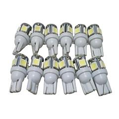 Недорогие Дневные фары-12шт T10 Автомобиль Лампы 2.5W SMD 5050 90lm 5 Светодиодная лампа Внешние осветительные приборы
